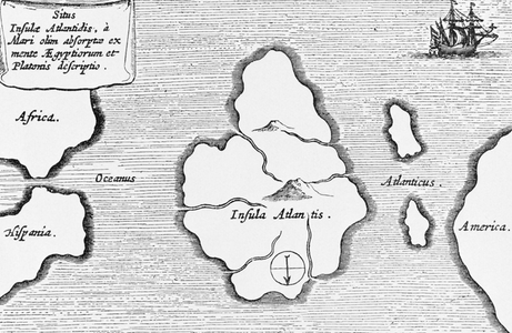 17th-century Jesuit made what's probably the most famous map of Atlantis, which he located in the Atlantic Ocean -Corbis