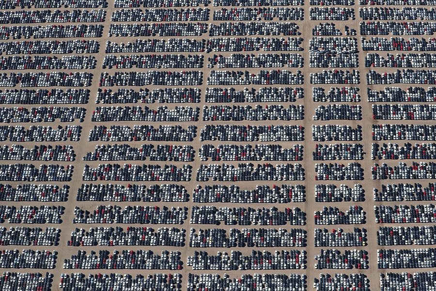 After paying $7.4+ billions in fines, VW parks 350,000 emission-cheating diesel cars at nearly 40 US facilities. -Lucy Nicholson:Reuters