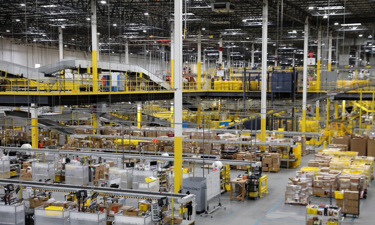Amazon warehouse in Robbinsville, where the incident happened on Wednesday. Photograph- Shannon Stapleton:Reuters