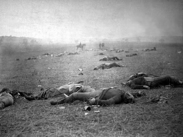 Battle of Gettysburg Matthew-Brady photo