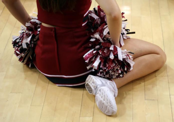cheerleader watching