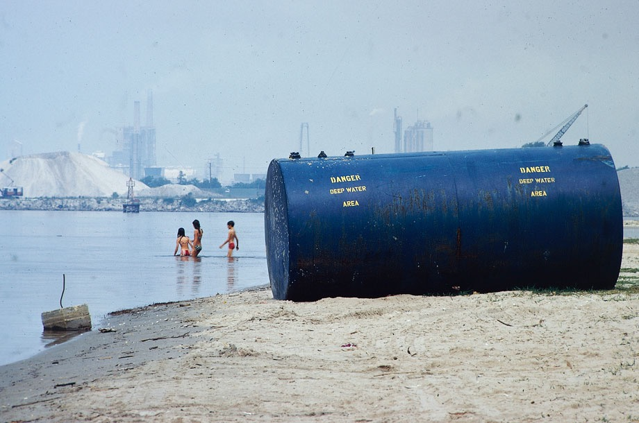 Chemical plants on shore are considered a prime source of pollution ...