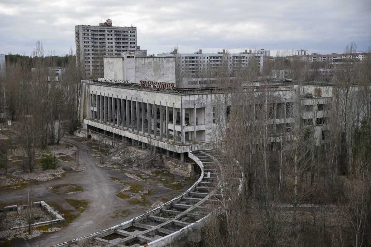 city of Pripyat, located a little over a mile from the nuclear plant -Gleb Garanich Reuters