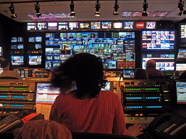 CNN control room, March 27, 2009. -Michael Newman
