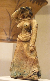 Crete woman, bronze figure, late Minoan