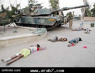 Dead children in Liberated Fallujah