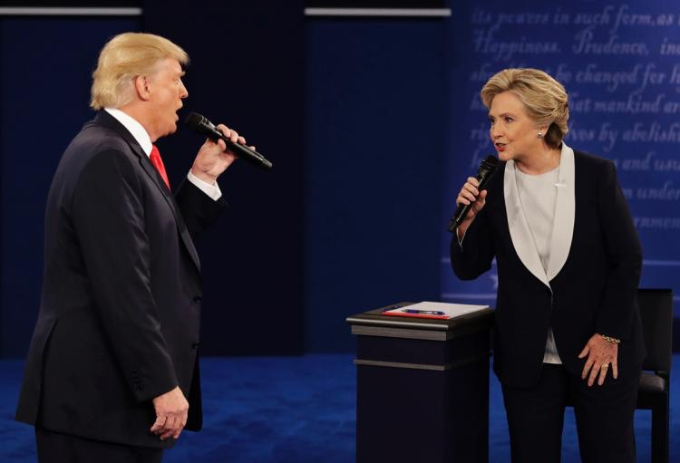 Donald and Hillary singing duet