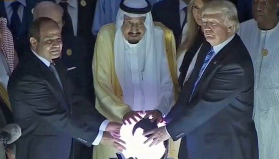 Donald Trump and the glowing orb
