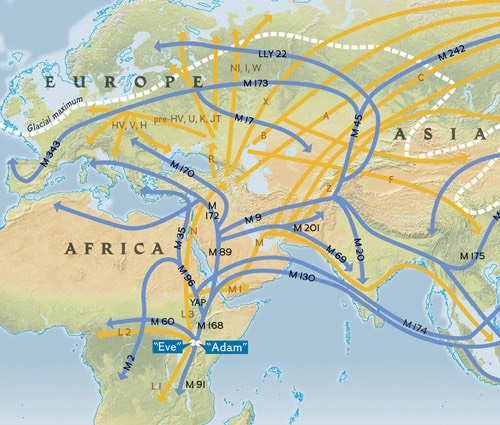 Early humans migrated from Africa.