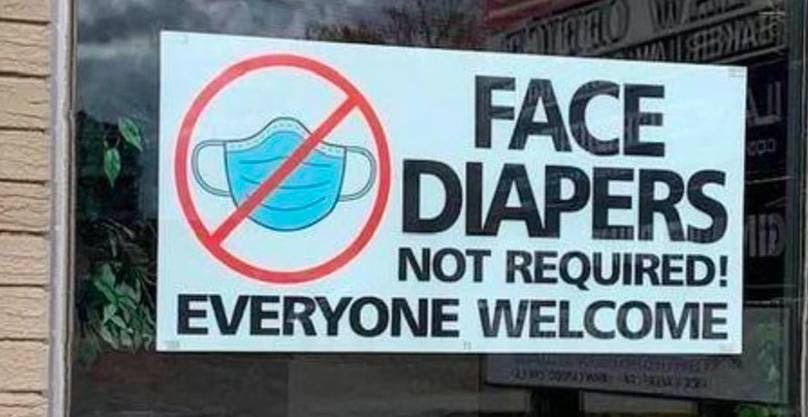 Face Diapers Not Required