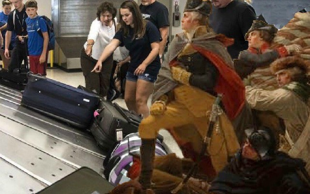 famed Battle of Baggage Claim (1776)