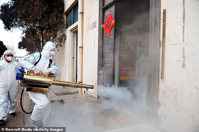 Fogging doorways to kill coronavirus -Barcroft:Getty