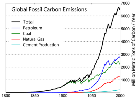 Global Carbon Emission by Type -GlobalWarming Art