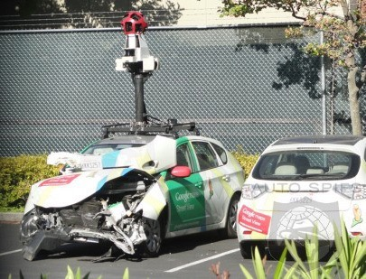 Google driverless car crash