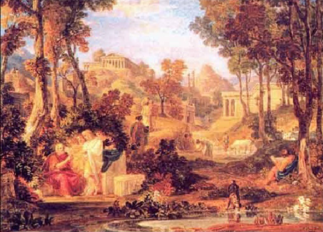 Grove of Accademia,Plato Teaching by Joshua Cristall, 1768-1847