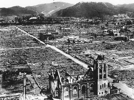 Hiroshima in the wake of the atomic bomb attack, 6 August 1945