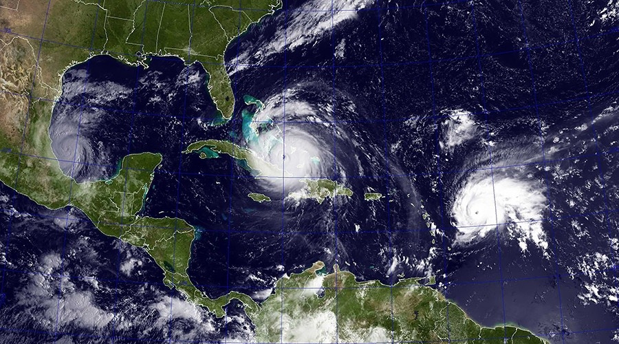 Hurricanes Irma, Joes (trailng) and Katia  -US Navy:Global Look Press