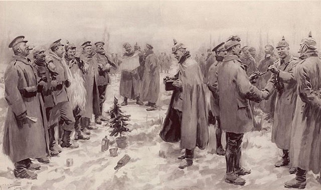 Illustrated London News's illustration of the Christmas Truce. (Photo- A. C. Michael)