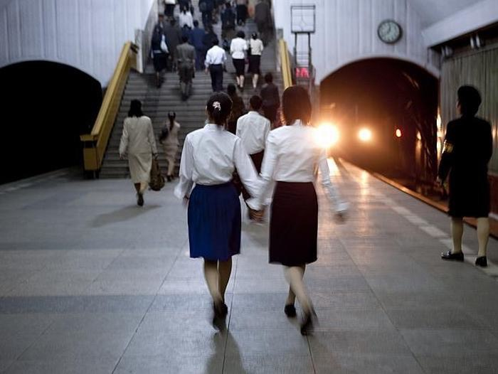 In Pyongyang, there is a subway system that is actually one of the deepest subways in the world and it also doubles as a bomb shelter.