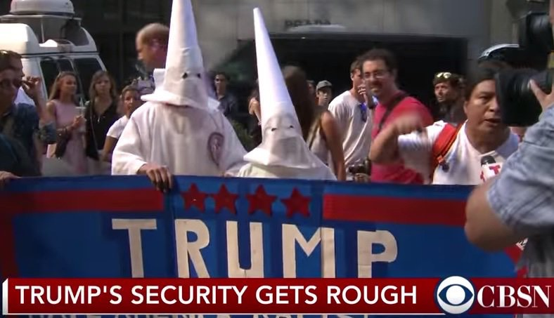 "KKK for Trump ""gets rough"""