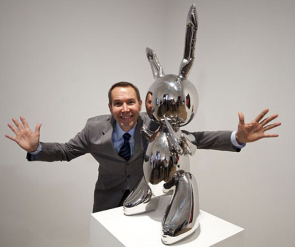 Koons with his pet rabbit