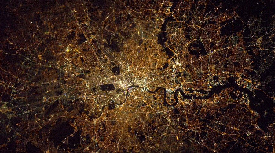 London from space -British astronaut, Tim Peake