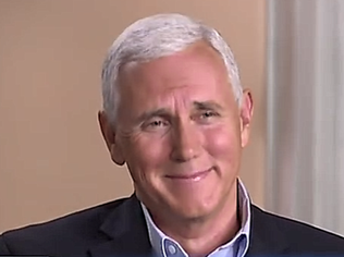 Mike Pence giggling