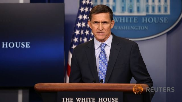 National Security Adviser General Michael Flynn rants