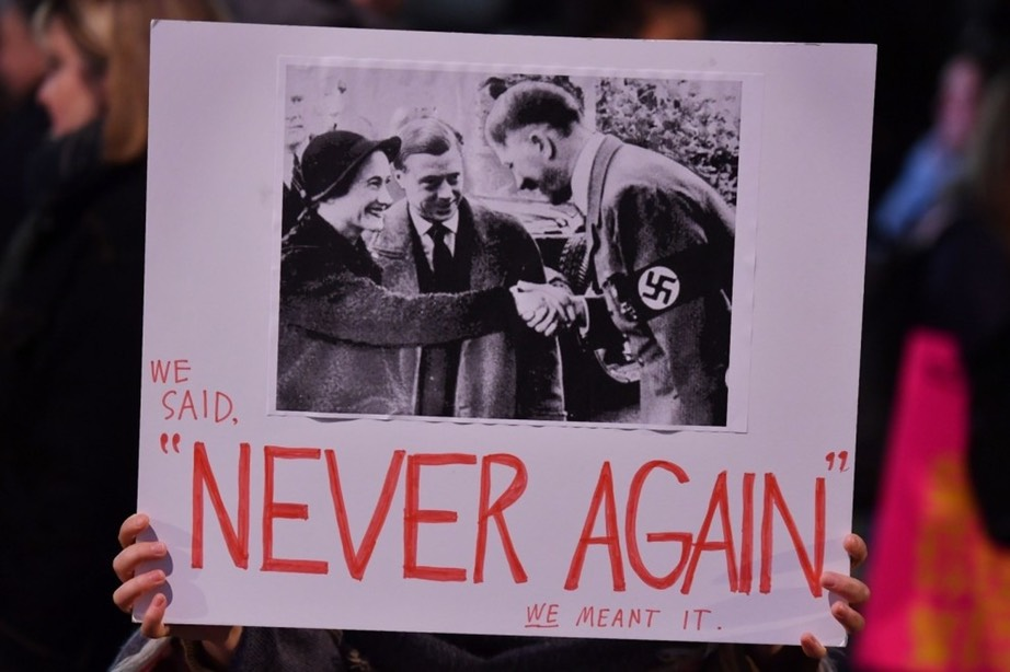 Never Again asshole -BEN STANSALL:AFP : Getty Images