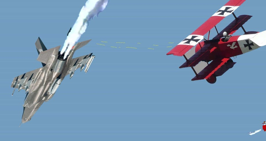 Red Baron downs F-35