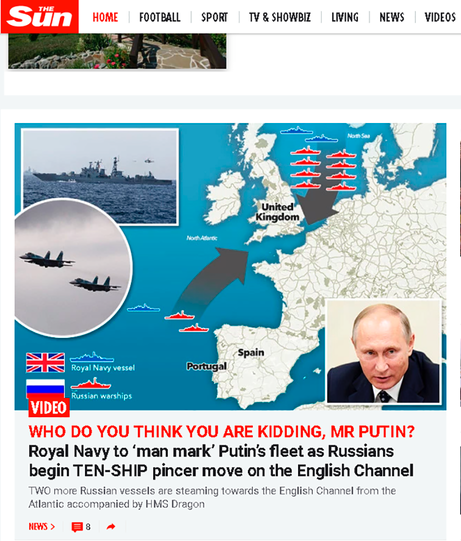 "Russian Navy ""Pincer Movement"""