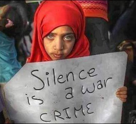 Silence Is A War Crime -Yemeni Woman