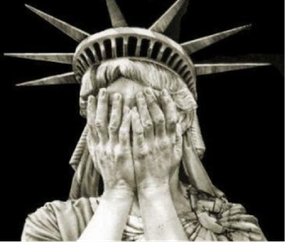 Statue of Liberty weeping