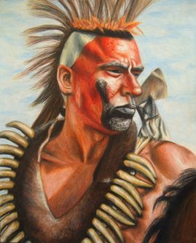 this comanche warrior attacked custers on the moon