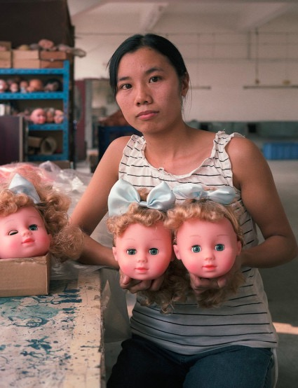 Toy factory worker, China, Michael Wolf photographer