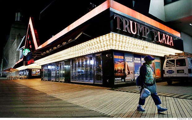 Trump Plaza Casino's facade - or what remains of it - is coming down -CNN Money,com