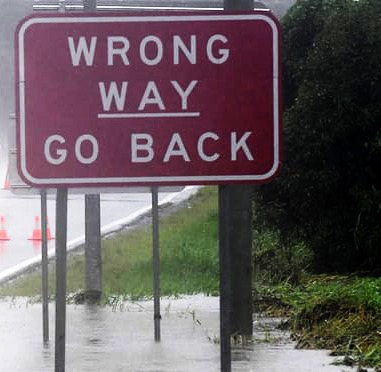 Wrong-way-goback-Dave Hunt-AAP